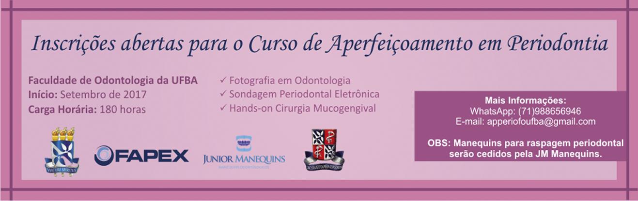 Inscrições abertas para o curso de aperfeiçoamento em periodontia
