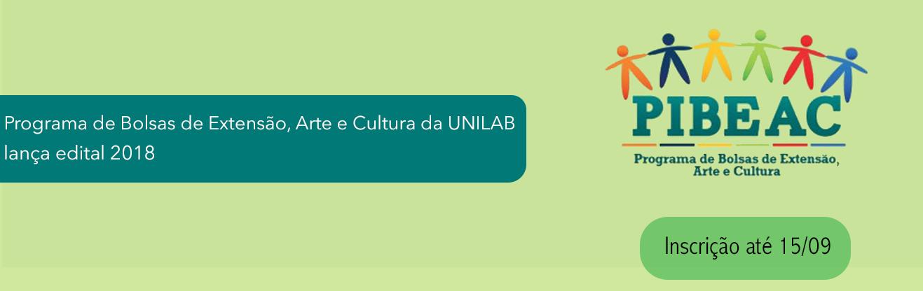 Programa de Bolsas de Extensão, Arte e Cultura da UNILAB lança edital 2018