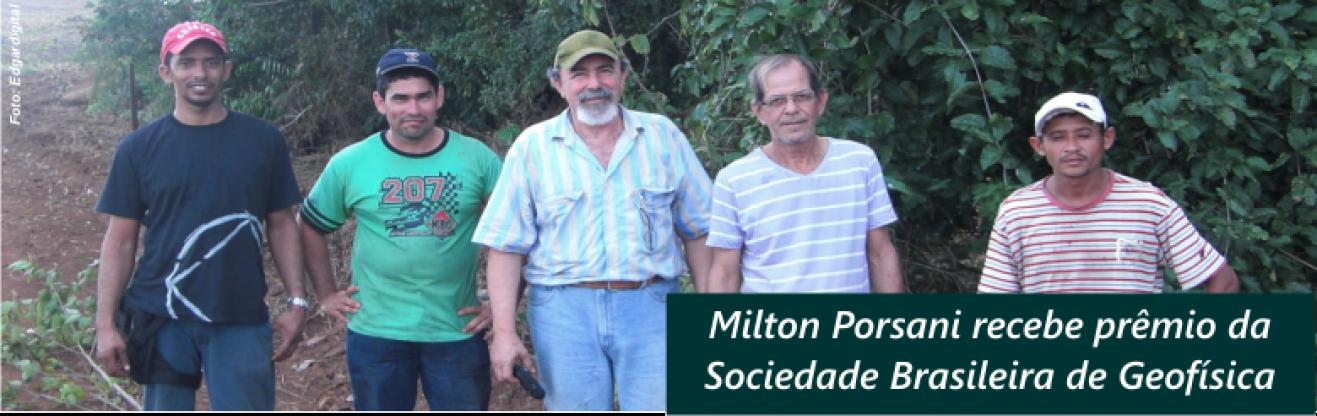 Milton Porsani recebe prêmio da Sociedade Brasileira de Geofísica